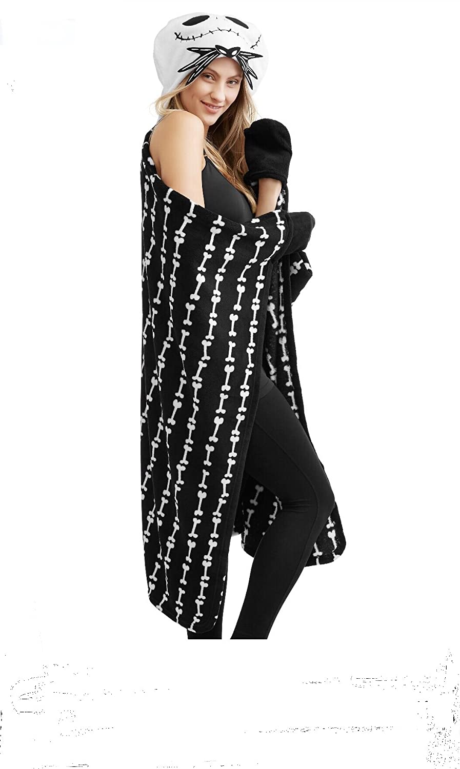 Amazon.com: Nightmare Before Christmas Cozy Wrap Robe Blanket with ...