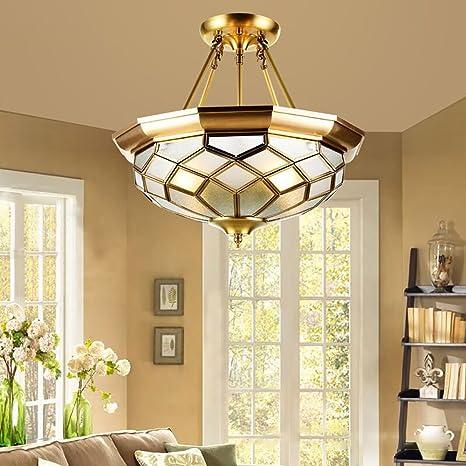 Amazon.com: RS iluminación araña de cobre decoración salón o ...