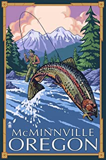 product image for McMinnville, Oregon Fisherman 30935 (12x18 SIGNED Print Master Art Print, Wall Decor Poster)