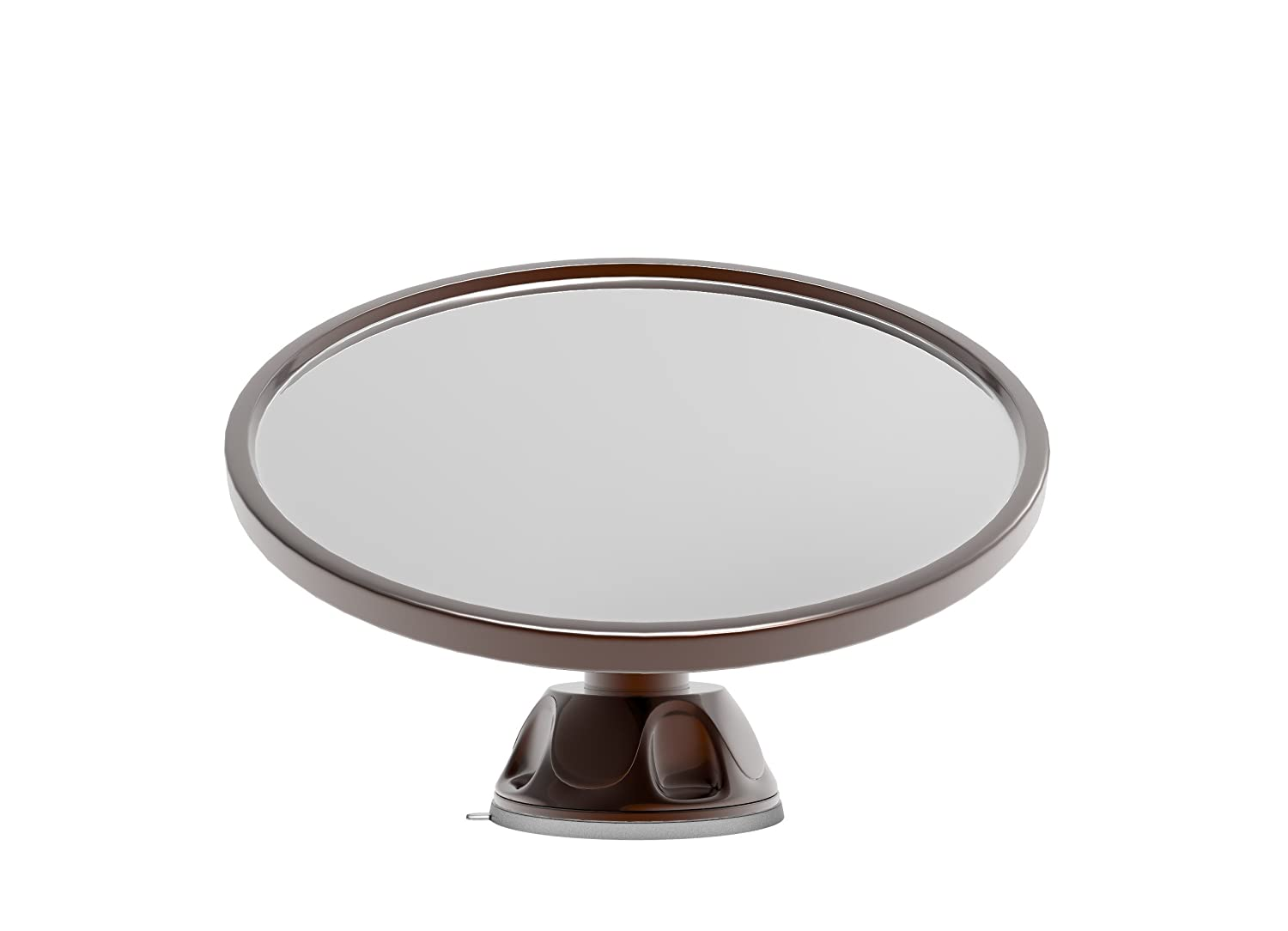 Amazon.com : Fogless Fog free Shower Mirror with Rotating, Locking Suction  Cup sticks to wet shower walls; New unique Bronze Finish; Best Shave and  Bonus ...