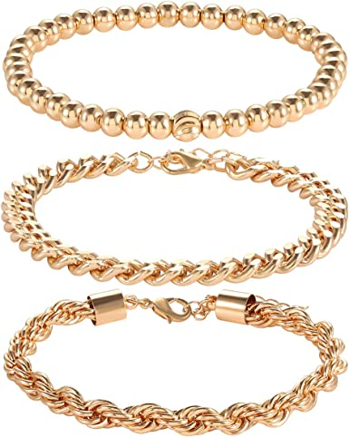 Chunky bead and chain bracelet