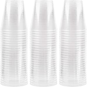 Plasticpro 2 oz Shot Glasses Crystal Clear Disposable Hard Plastic Shot Cups - Tumblers, Great for Whiskey, Jello, Shots, Tasting, Sauce, Dips, Samples Pack of 100