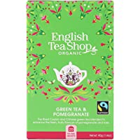 English Tea Shop Organic Green Pomegranate, 20 Teabags