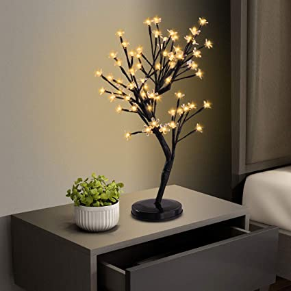 tobbi led cherry blossom tree lights bonsai lighted tree christmas tree light tabletop led tree lamp