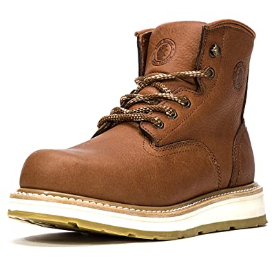 b739135ebb8 Amazon.com | ROCKROOSTER Work Boots for Men, Soft Toe Water ...