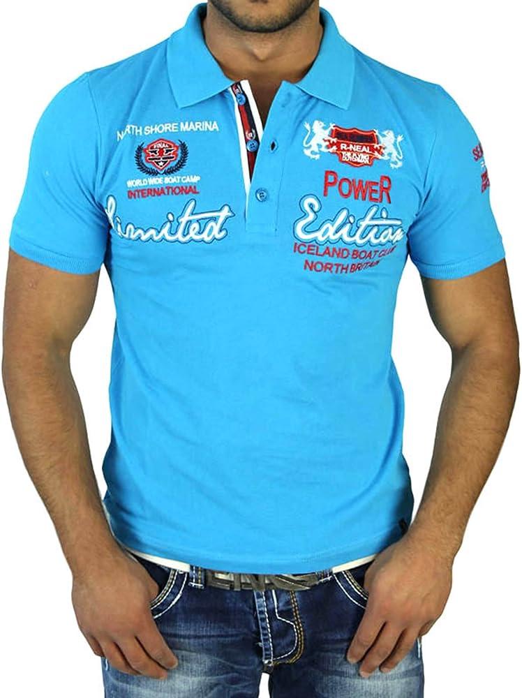Rusty Neal Hombre Manga Corta 2 in1 Polo Camiseta de Slim Fit Polo camisa turquesa 6525 turquesa medium: Amazon.es: Ropa y accesorios