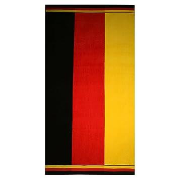 Alemania Toalla de playa (100 x 180 cm toallas de playa (100% algodón negro rojo oro: Amazon.es: Hogar