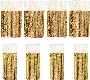 8Pack Hake Watercolor Brushes, Hake Blender Brushes, Sheep Hair Hake Brushes for Pottery, Bamboo Handle Brushes for Painting, Watercolor, Wash, Dust Cleaning, Ceramic & Pottery Painting