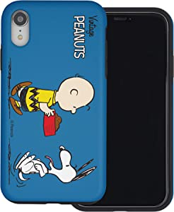 WiLLBee Compatible with iPhone XR Case Peanuts Layered Hybrid [TPU + PC] Bumper Cover - Cute Snoopy Food