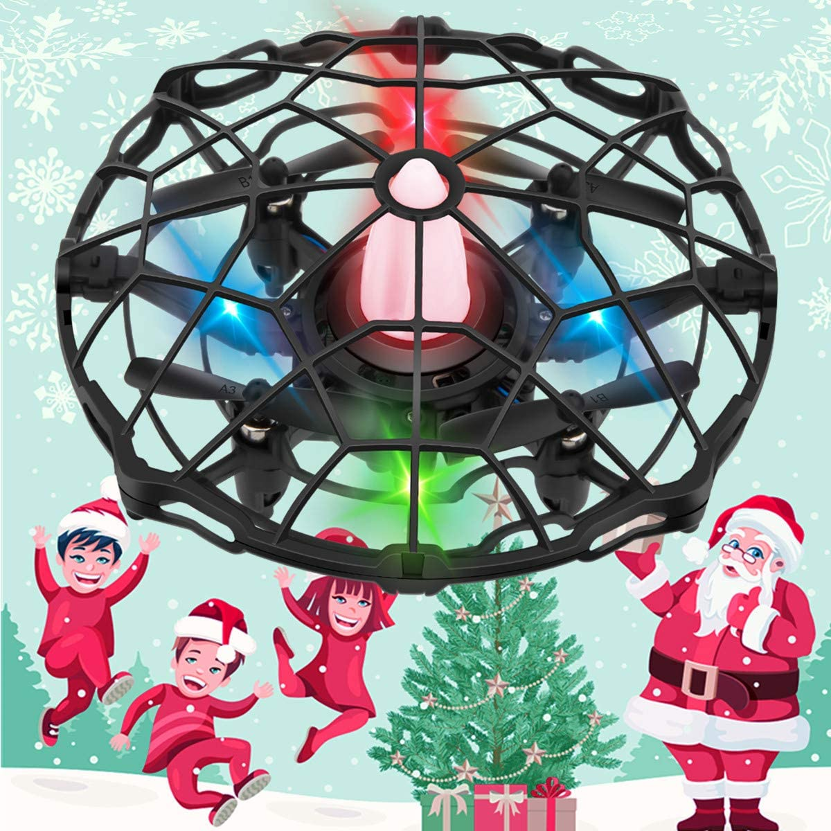 Mini Drones 360° Rotating Smart Mini UFO Drone for Kids Toys Xmas Holiday Gifts