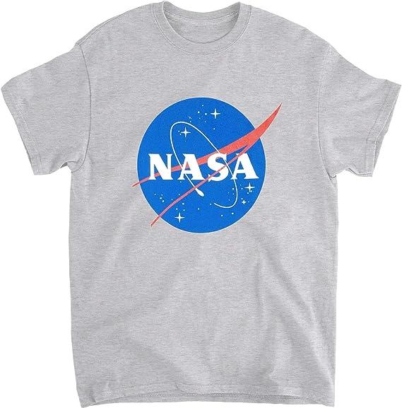 Impact Merchandising - Camiseta de Manga Corta con Logo de la NASA: Amazon.es: Ropa y accesorios