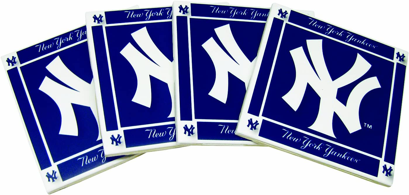 MLB New York Yankees 4-Pack Ceramic Coasters
