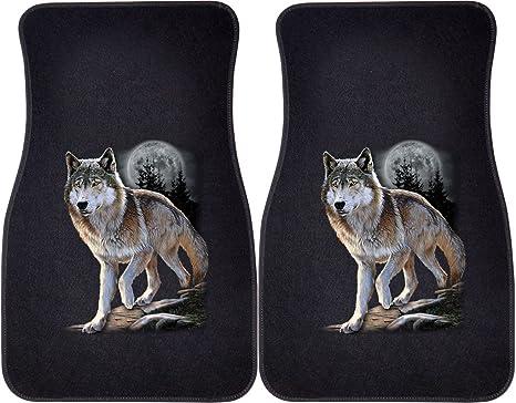Amazon.com: Wolf Alerta coche y camión frontal Mats – Juego ...