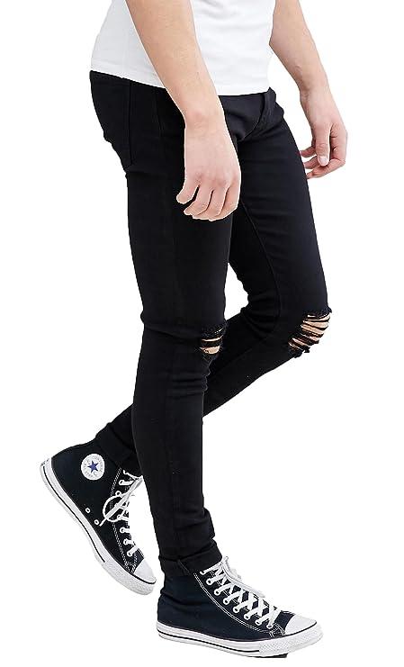 Amazon.com: MEIKESEN pantalones vaqueros de jean para hombre ...