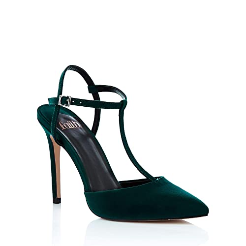 bd31e2982a1 Debenhams Faith Womens Green  Chi  T-Bar Stiletto Heels Sandals ...