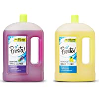 Amazon Brand - Presto! Disinfectant Floor Cleaner Combo - Lavender (2 L) & Citrus (2 L)