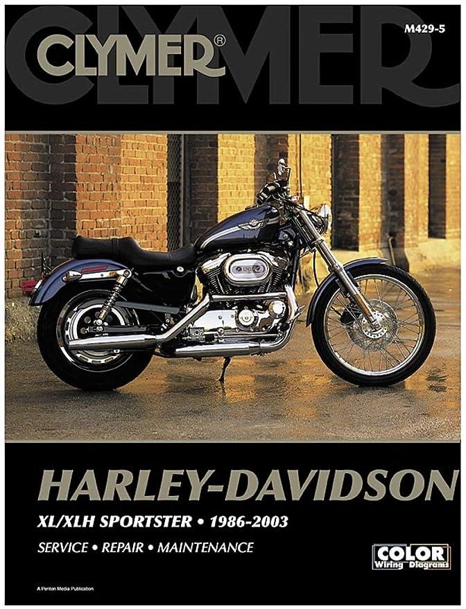 Amazon Clymer Harleydavidson Xlxlh Sportster 19862003 Rhamazon: 2003 Harley Davidson 1200 Sportster Wiring Diagram At Gmaili.net