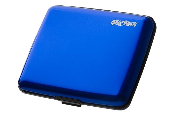 SHARKK « grande Soporte tarjeta de crédito cartera de aluminio con protección RFID - para facturas: Amazon.es: Oficina y papelería