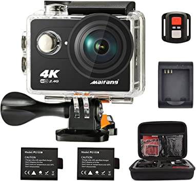 Cámara de acción deportiva GO PRO 4K Ultra HD 12MP Wifi Control Remoto impermeable de la diversión