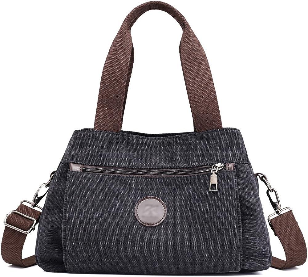 Hiigoo Womens Fashion Handbags Multi-color Totes Purses Nylon Messenger Bag Travel Bags