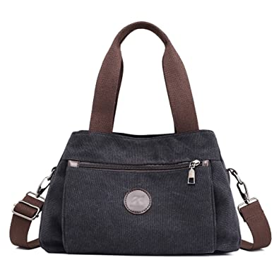 aee16bc5cee8 Hiigoo Women s Casual Totes Bag Shoulder Bag Canvas Handbags 3-open  Crossbody Bag Messenger Bag