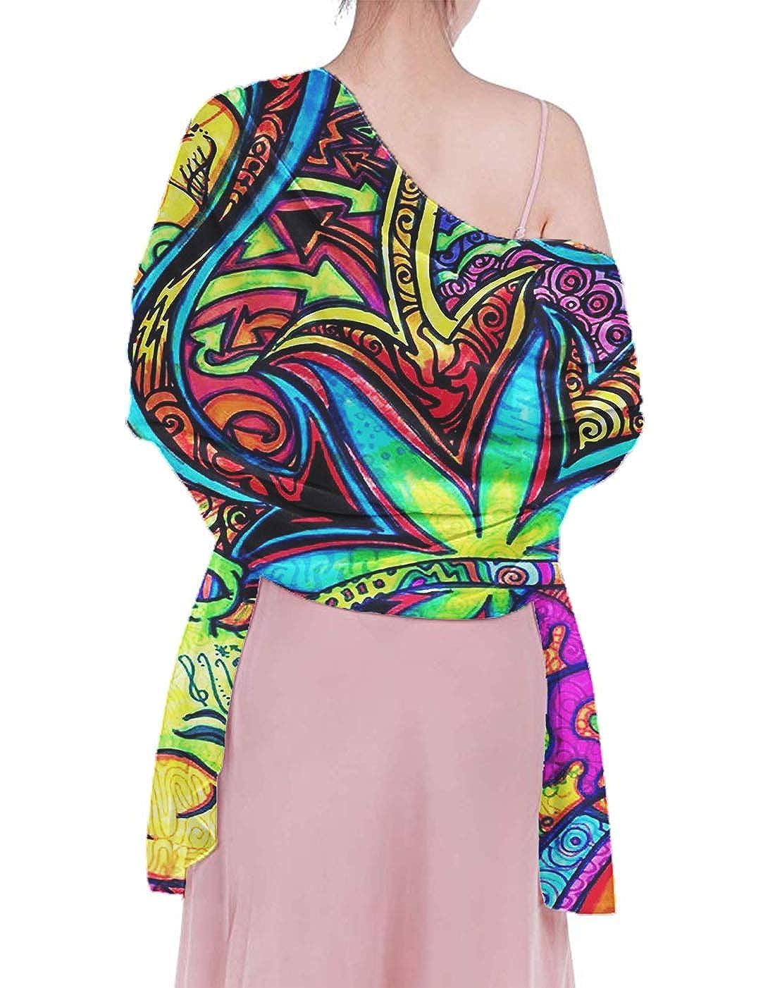 Fashion Silky Feel Shawls Holiday New Year Party Swimwear Scarf Cape Shawl