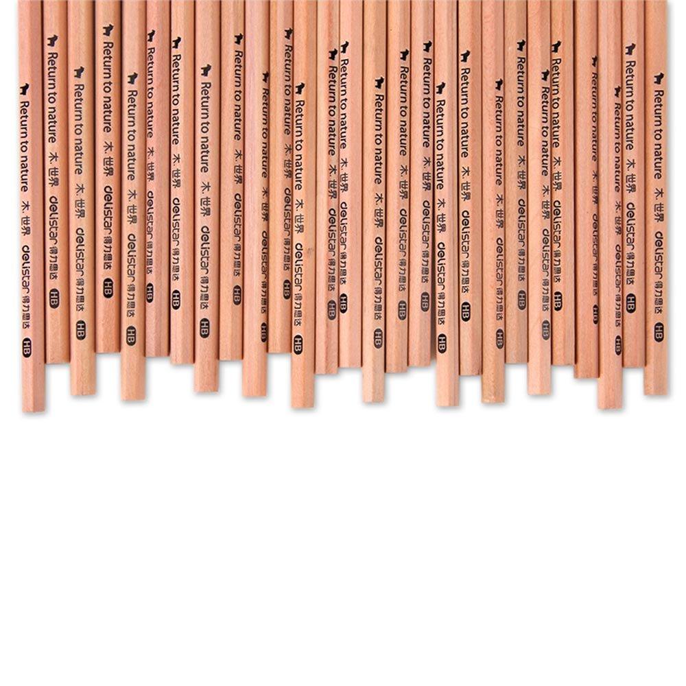 MYLIFEUNIT Hexagonal HB Pencils Wood Pencils School & Office Supplies 50Pcs/Barrel