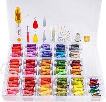 Caydo - Caja organizadora de 96 colores, incluye pulseras de la ...