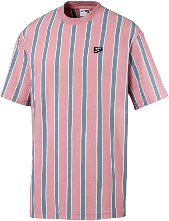 PUMA Downtown Stripe - Camiseta para hombre Rosa rosa M: Amazon.es ...