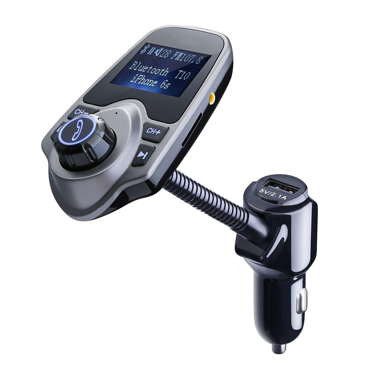 FM Transmitter, Primacc MP3 Player Bluetooth Radio Car Transmitter with Aux Port 1
