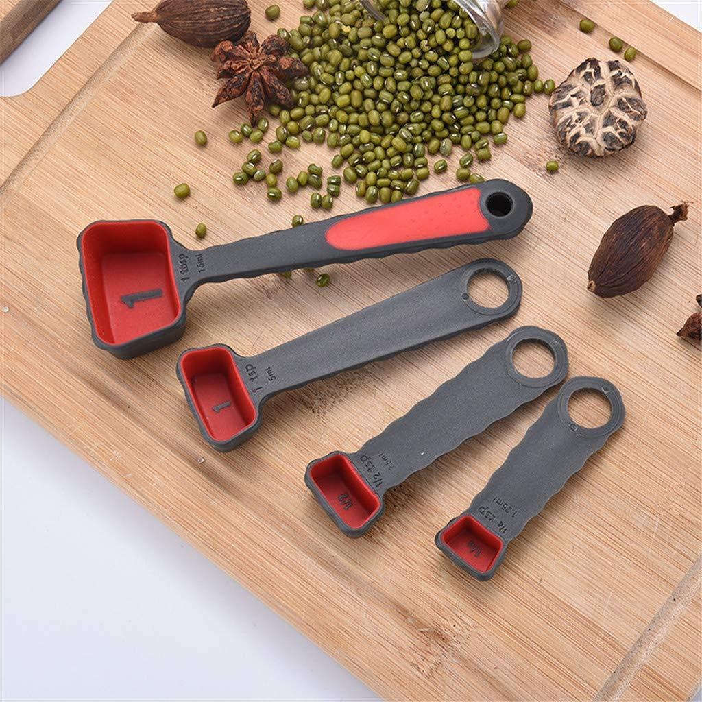 Clothful 4Pcs Measuring Cup Measuring Spoon Kitchen Measuring Tool Baking Teaspoon