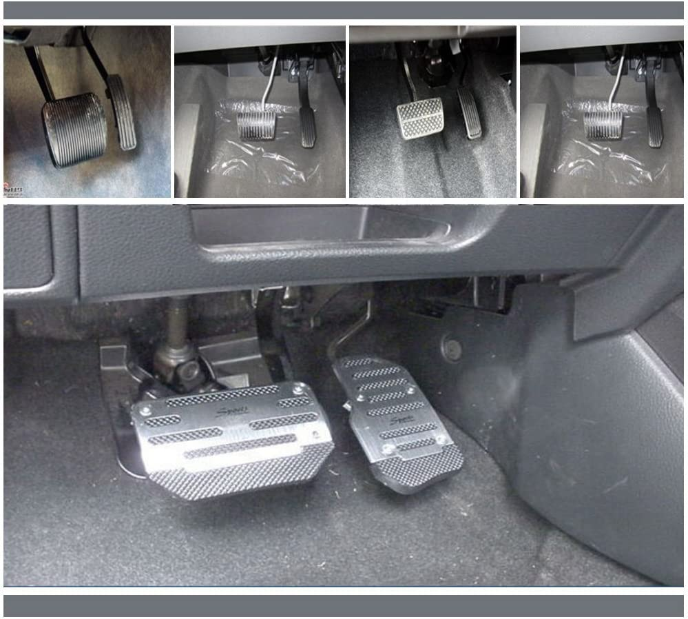 Red AUTOPDR Car Brake Foot Pedal Covers Gas Pedals Pads Covers Foot Brake Extenders Cover Pad Automotive Kick Panels Vehicle Motorcycle Aluminium