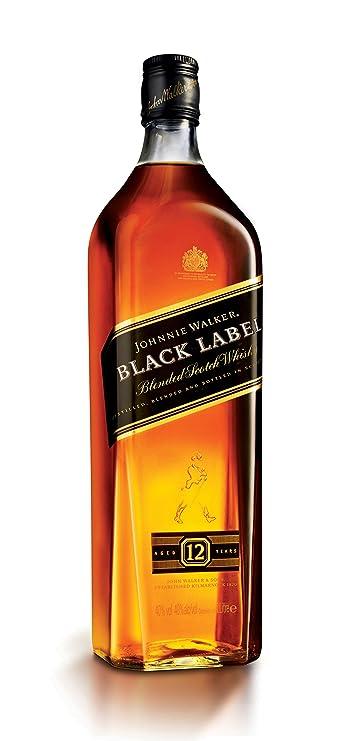 Johnnie Walker Black Label 12 Year Old Scotch Whisky 1 L Amazon Co