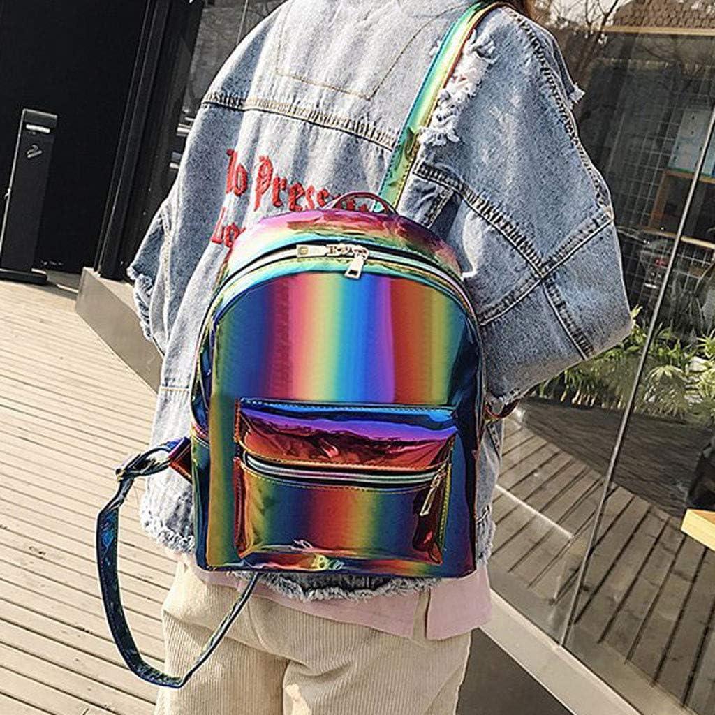 Women Rainbow Backpack,Ymibull Girl Fashion Shoulder Bags Student School Backpack Large Capacity Laptop Bag Travel Daypack Multicolor