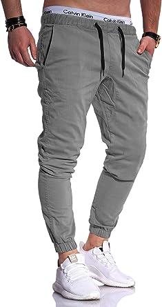 Herren Jogger Chino Hose Jeans Cargohose Jogginghose Low Crotch Pants NEU