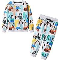 JinBei Conjuntos Deportivos para bebé Niño Chándales Conjunto Sudaderas Sweater Pantalones Ajustable Cinturón Algodon…
