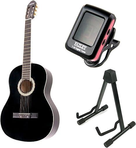 LaPaz 001 BK - Guitarra clásica + soporte y afinador: Amazon.es ...