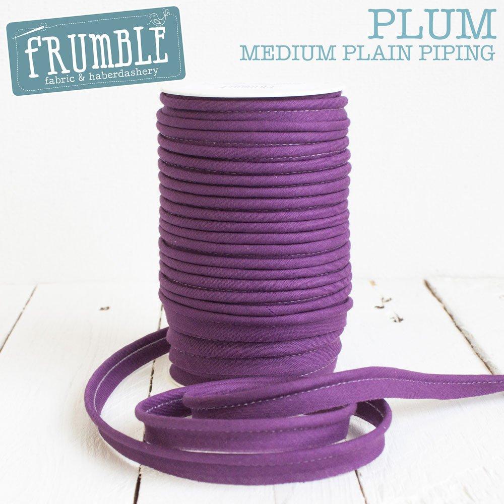 12mm Plum Medium Piping 5m Length - Piping Cord Bias Edge Cording Corded Trim Piped Trimming Frumble