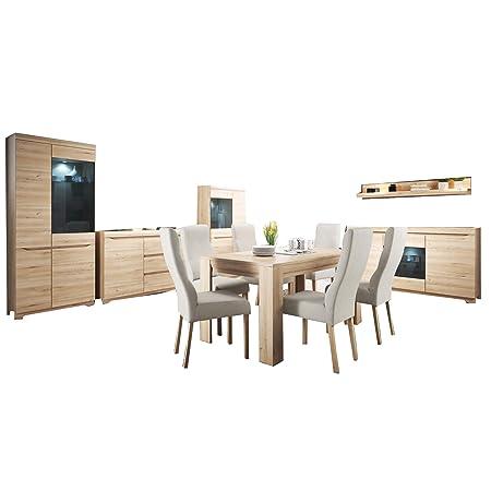 Attrayant Mb Moebel Moderne Wohnwänd Esszimerschrank Esszimmer Möbel 2 X Komode 2 X  Vitrine Mit LED