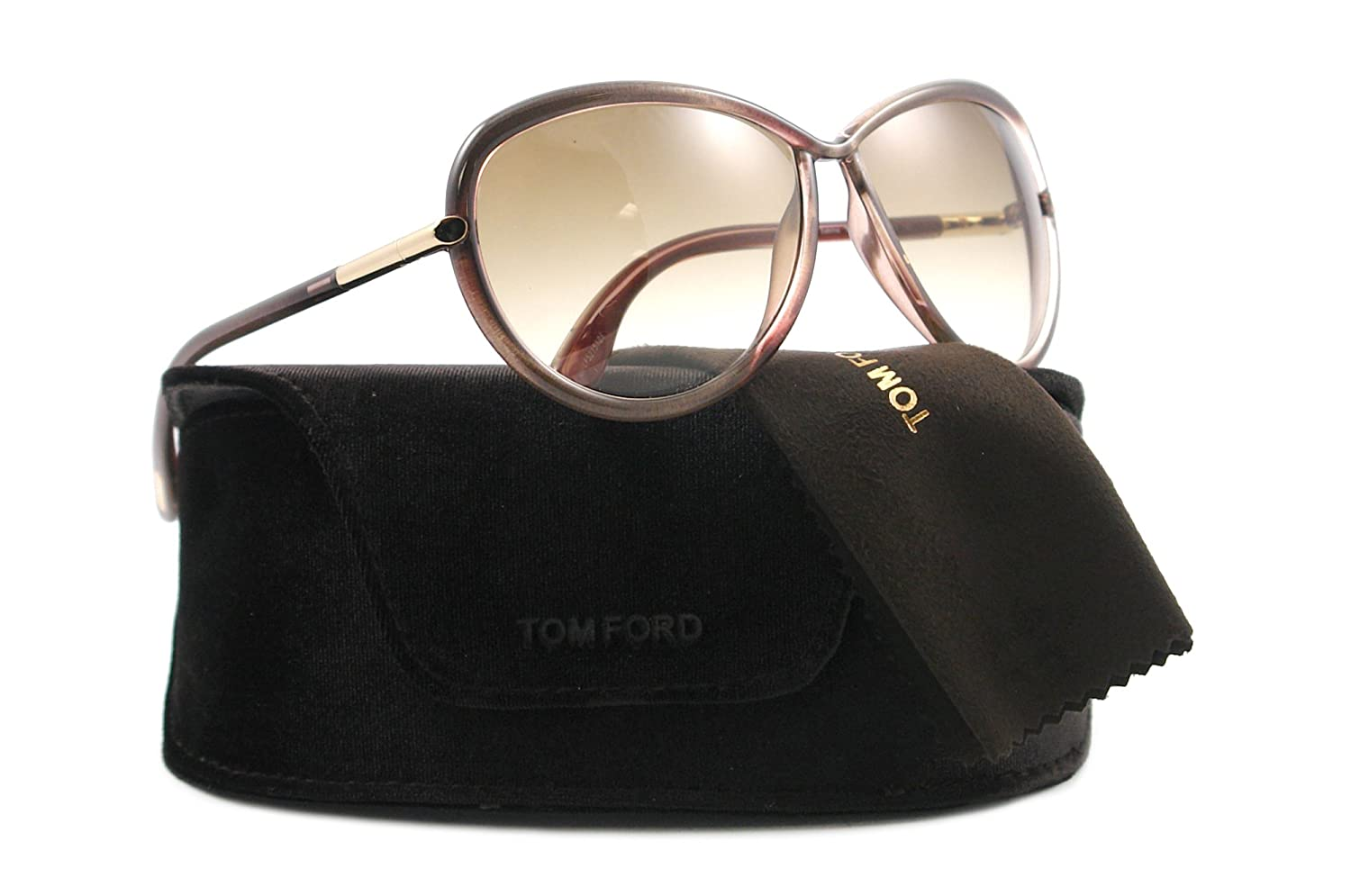 44f923c8ed Tom Ford Tf 161 Sabrina 59F Brown Sunglasses  Amazon.ca  Clothing    Accessories