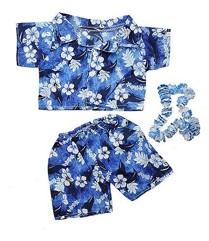 c12dd6e54 Amazon.com: Hawaiian Boy w/Flower Lei Teddy Bear Clothes Outfit Fits Most  14