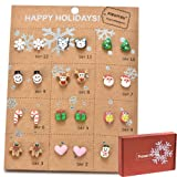 Pibupibu Christmas Earrings Set for