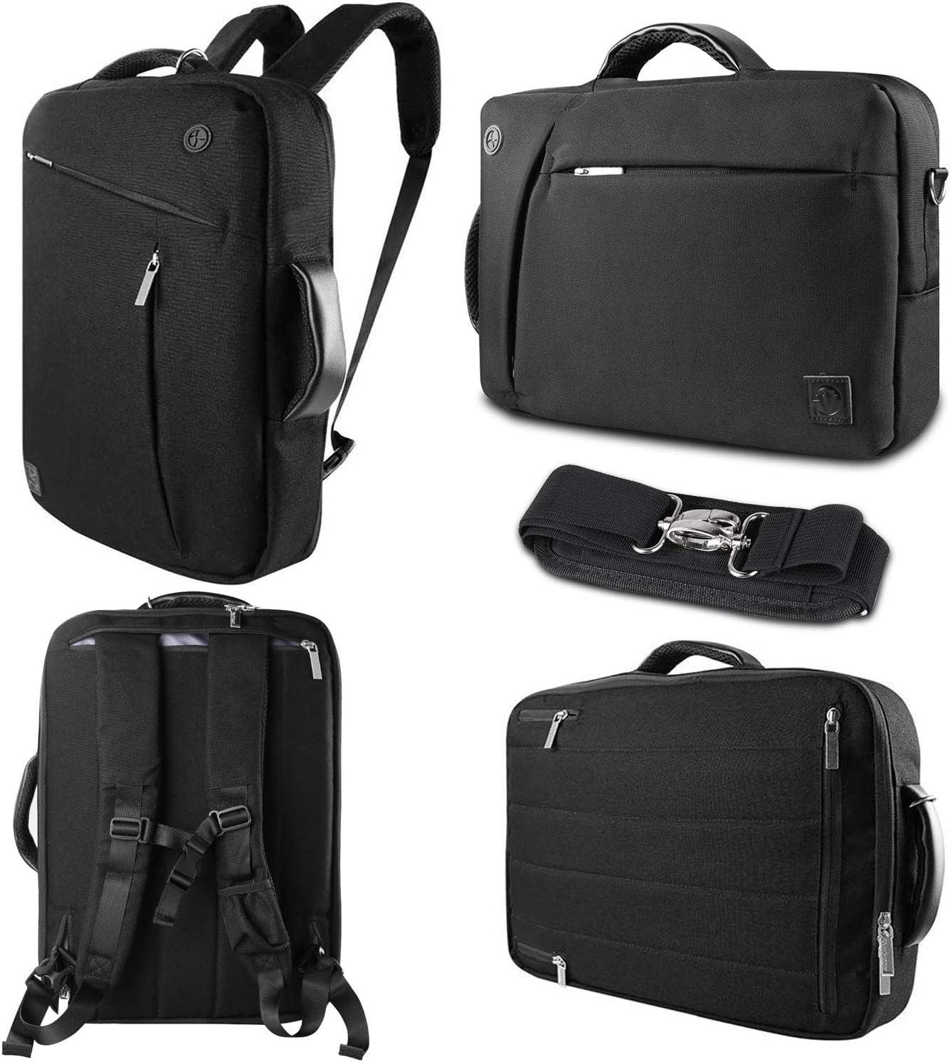 17 17.3 Inch Laptop Briefcase Shoulder Bag Convertible Business Travel Backpack Slim Messenger Handbags for Asus ROG Mothership, VivoBook Pro 17, Acer Aspire 5, Alienware m17 R4, HP Envy 17