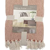 Country Club Opus Burnt Orange 100% Cotton Throw 170x 200cm