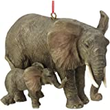 """Midwest CBK 2.5"""" x 3.5"""" Resin Elephant with Baby Ornament"""