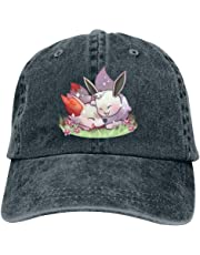 LeoCap Happiness Ee-vee Baseball Cap Unisex Washed Cotton Denim Hat Adjustable Caps Cowboy Hats