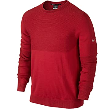 Mens Nike Tw Engineered University Red/Wolf Grey Golf Sweater