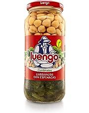 Luengo - Garbanzo Cocido En Frasco De 570 g Con Espinacas