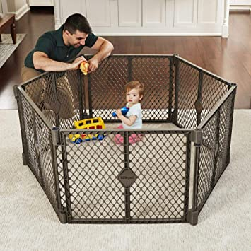 North States Superyard Ultimate 6-Panel Play Yard Safe Play Area