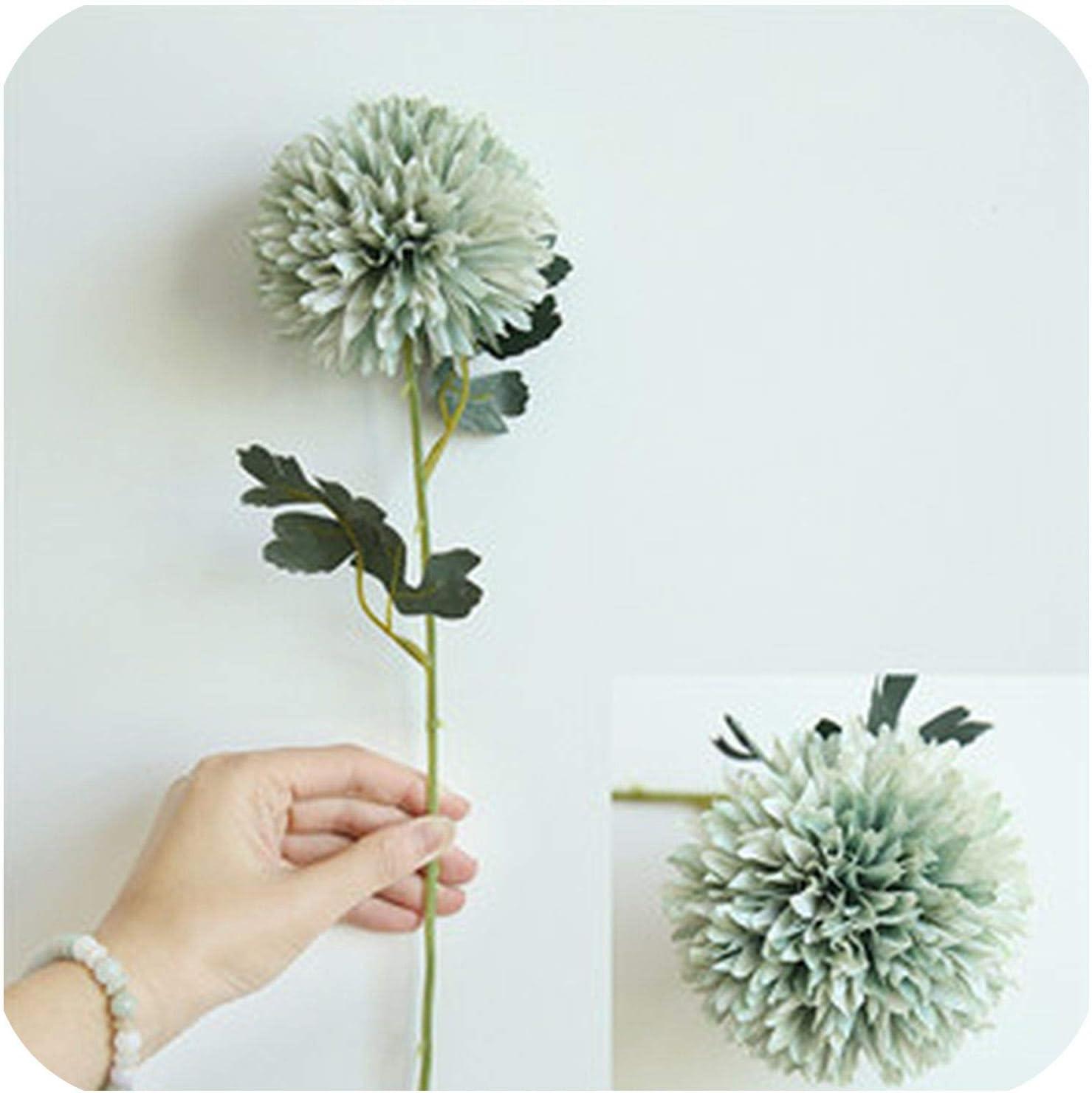 Artificial Flowers Dandelion Silk Fake Plant Branch Wedding Home Floral Decor